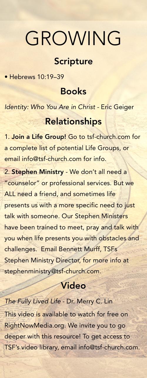 Pathways   The Sanctuary Fellowship